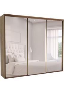 Guarda-Roupa Casal Com Espelho Luminum Ll 3 Pt 6 Gv Ébano