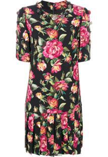 Dolce & Gabbana Vestido Com Estampa 'Floral Bouquet' - Preto