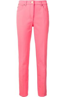 Escada Tailored Straight Leg Jeans - Rosa
