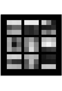 Quadro Abstrato I Uniart Preto & Branco 45X45Cm