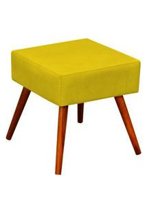 Puff Decorativo Lyam Decor Lívia Suede Amarelo
