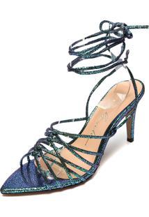 Sandália Luiza Barcelos Amarração Verde/Azul