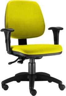 Cadeira Giratã³Ria Lyam Decor Job Amarelo - Amarelo - Dafiti