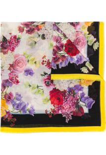 Dolce & Gabbana Echarpe Com Estampa Floral - Branco