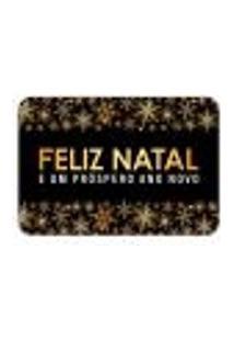 Tapete Decorativo Mdecore Feliz Natal Estrelas Preto 40X60Cm