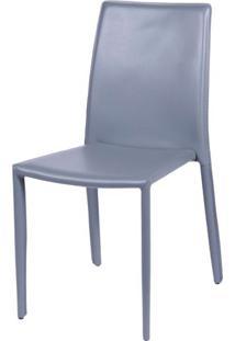 Cadeira Bali Estofada Couro Ecologico Cinza - 15003 Sun House