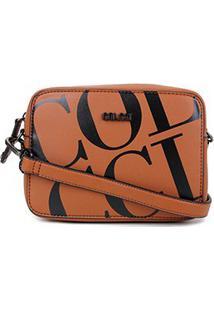 Bolsa Colcci Mini Bag Maxi Logo Feminina - Feminino-Caramelo+Preto