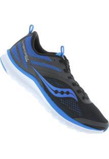 Tênis Saucony Liteform Miles - Masculino - Preto/Azul