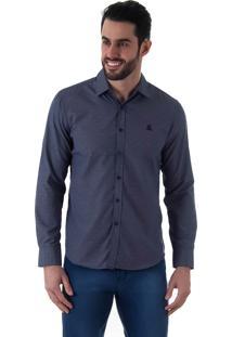 Camisa Casual Masculina Broken Rules - Azul