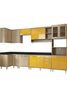 Cozinha Compacta Multimóveis Sicília 5831.132.815.695.610 Argila Amarelo Se