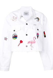 Forte Dei Marmi Couture Jaqueta Jeans Com Aplicações - Branco