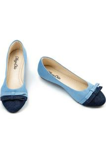 Sapatilha Megachic Jeans Dual Feminina - Feminino-Azul