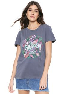 Camiseta Colcci Reto Tropical Azul