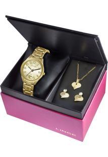 Kit Relógio Feminino Lince Lrg4290L K116C2Kx