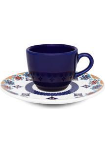 Conjunto 12Pçs Xícaras De Café Oxford C/Pires Mail Order Coup Shanti Azul