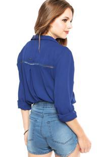 Camisa Forum Recorte Azul