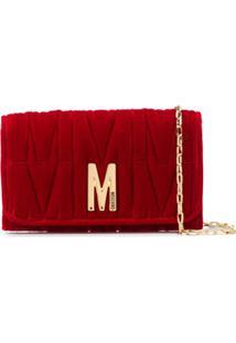Moschino M-Quilted Clutch Bag - Vermelho