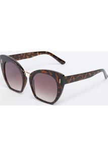 Óculos De Sol Gatinho- Marrom & Pretoclub Polo Collection