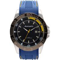 a1ec34cbe13 Relógio Akium Masculino Borracha Azul - Tmg6974-2T Ipb-Band Vivara