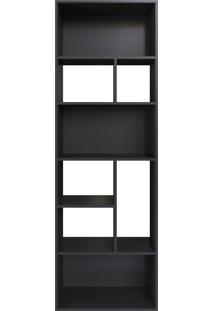 Estante Multiuso 180Cm Modern Office 8 Nichos Preto Estilare Móveis