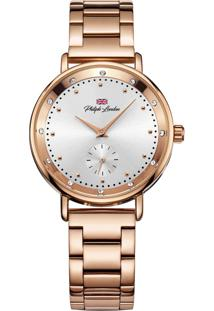Relógio Philiph London Pl81005113F Rose