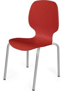Cadeira Formiga Em Polipropileno Vermelho Com Pes Aco Carbono - 48014 - Sun House