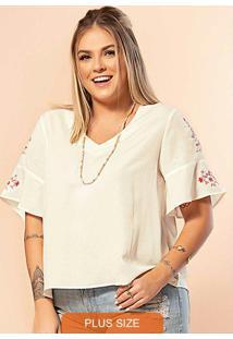 Blusa Secret Glam Branco