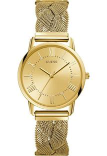 e938620aa17 ... Relógio Guess Feminino Aço Dourado - W1143L2