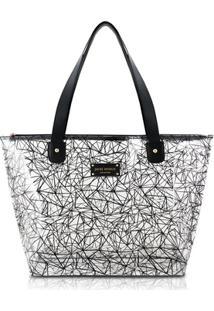 Bolsa Shopper Jacki Design Pvc - Feminino-Preto