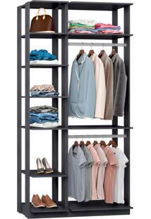 Guarda-Roupa Solteiro Modulado Clothes I Espresso