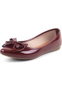 Sapatilha Tag Shoes Verniz Vinho