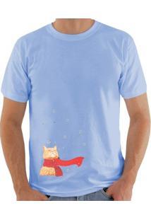 Camiseta Milá Inverno Fashion - Masculino-Azul Claro