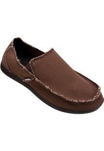 Sapato Crocs Santa Cruz Loafer - Masculino-Marrom Escuro