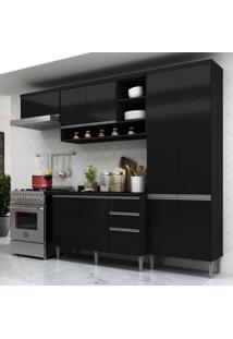 Cozinha Completa Multimã³Veis SuãÃ§A 5195Ml Com Balcã£O 10 Portas 2 Gavetas Preto - Incolor/Preto - Dafiti