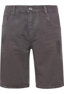 Bermuda Masculina Jeans Color - Cinza