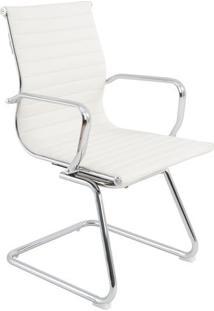 Cadeira Office Sevilha Fixa Em Tela- Branca- 98,5X56Rivatti