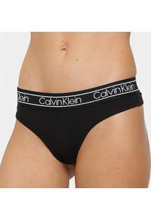 Calcinha Fio Dental Calvin Klein Cotton Flx - Feminino