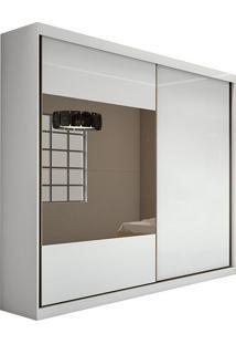 Guarda Roupa Royal 2 Portas 2 Espelhos Branco Brilho