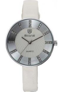 Relógio Skone Analógico 9250 Branco