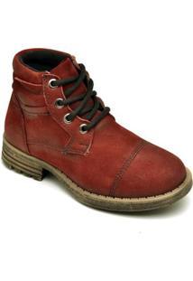 Bota D&R Shoes Cano Curto Em Couro Masculina - Masculino