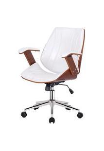Cadeira Kopenhagen Diretor Branca Acabamento Madeira 98Cm - 62562 Branco