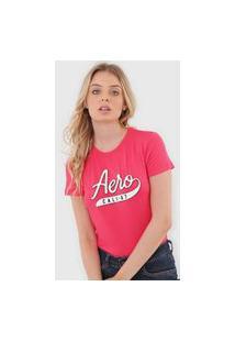 Camiseta Aeropostale Bordada Pink
