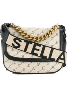 Stella Mccartney Bolsa Tiracolo Monogramada - Neutro