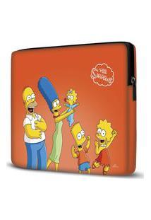 Capa Para Notebook Simpsons Laranja 15.6 A 17 Polegadas