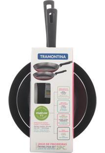 Conjunto De Frigideiras Antiaderente Tramontina Cinza 2 Peças