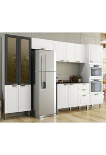 Cozinha Completa 7 Peças Americana Multimóveis 5666Mf Branco/Grafite