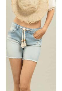 Shorts Ibiza Com Cinto Jeans - Lez A Lez