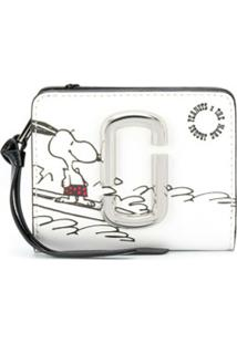 Marc Jacobs Porta-Moedas Com Estampa Snoopy Pequena - Branco