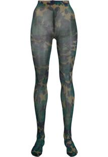 Richard Quinn Camouflage Pattern Tights - Azul