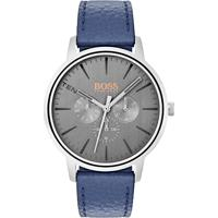 95bcb2ddc7a Relógio Hugo Boss Masculino Couro Azul - 1550066